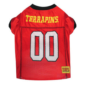 MARYLAND TERRAPINS NCAA Pets First Licensed Dog Pet Mesh Jersey XS-L NWT