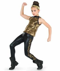 "A Wish Come True ""My Everything"" Black Dance Costume Dress Up Child Medium IMC"