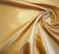 "GOLD PLAIN DRESS TAFFETA Fabric Polyester Faux Shot Silk 58"" By The Yard"