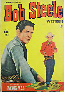 Bob Steele # 6 Fawcett Comic Golden Age 1951 FN/FN+ Western