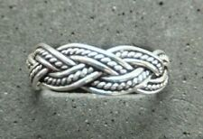 Solid Silver *strong, sturdy ring* .925 Silver New listing Plaited Toe Ring X 1, 5mm *Bn*