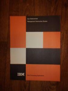 1967 IBM Relic Information System Law Enforcement Management Superb Condition