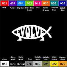 EVOLVE Darwin Fish Vinyl Decal Sticker Window Car Truck