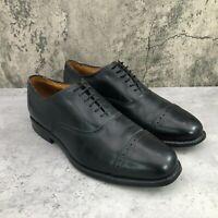Allen Edmonds Byron Men's Black Leather Cap Toe Brogue Oxford Shoes Size 9 D