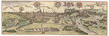 Kraków Vistula River Lesser Poland bird's-eye view map Braun Hogenberg ca.1617
