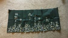 Asian Textile fabric  Wall Art Small Curtain new with orignal box and info sheet