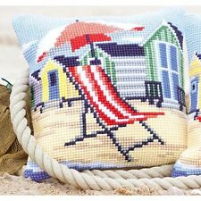 Vervaco-cross stitch coussin avant kit-plage chaise-PN-0145641