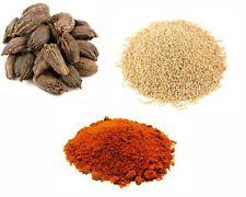 White Poppy Seeds 100g- Black Cardamom Pods 50g- Kashmiri Chilli Powder 100g