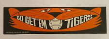 Vintage 1968 World Series Go Get 'Em Tigers Bumper Sticker Detroit Tigers (Nbd)