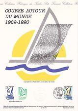 Document Philatélique Timbre 1er Jour : 06/06/ 1990 - Course autour du Monde