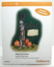 "New ListingDept 56 Halloween ""Spooky Village Sign"" Brand New"