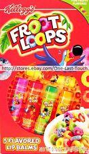 LOTTA LUV FROOT LOOPS 5pc Lip Balm Set FRUITY FLAVOR Lemon+Cherry+Lime+MORE