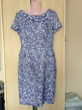 BNWT NEW LOOK SIZE 10 Peplum Dress, Blue, Patterned, Floral, Wedding? Occasion