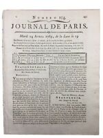 Roye en 1789 Péronne Somme Montdidier Abbé Galiani Napoli Italie Journal Paris