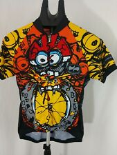 cycling Precaryous bicycle Jersey Bike off more than you can chew Medium