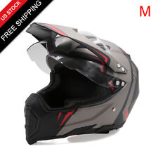 M Unisex-Adult Dirtbike Off-Road ATV Motorcycle Helmet Flip Up Visor