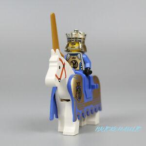Lego King Mathias 8781 8875 8779 w/ Barding Horse Castle Minifigure