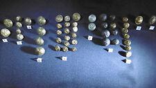 boutons militaire marine et divers (47 pieces) vintage