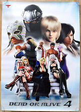 Dead or Alive 4 RARE XBOX 360 51.5 cm x 73 cm Japanese Promo Poster