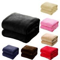 "Soft Micro plush Flannel Fleece Throw Blanket New 50""x 60"" All Colors"
