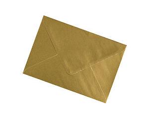 C7 Gold Metallic Envelopes 100gsm - All Quantities