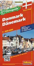 Hallwag Denmark Map *FREE SHIPPING - IN STOCK IN MELBOURNE - NEW*