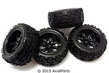 """(4) Redcat Racing Volcano EPX Pro 2.8"""" 7 Spoke Wheels Tires 1/10 Scale 12mm Hex"""