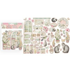 Orchids & Cats Stamperia Die-Cuts pack of 50 pieces