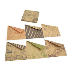 60 Pcs Kraft Paper Hand Craft Chiyogami  Origami DIY Colourful Double Side