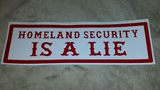 "HELLS ANGELS SUPPORT STICKER ""HOMELAND SECURITY"" 1X3"