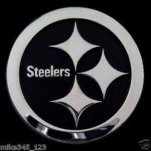Large Chrome PITTSBURG STEELERS Vinyl Decal Sticker Skin Wall Emblem NFL L@@K!!!