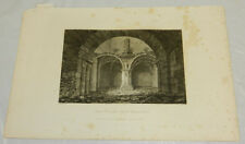 """1822 Antique Print/INTERIOR VIEW OF KEEP OF RICHMOND CASTLE, ENGLAND///13X19"""""""
