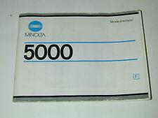 NOTICE MINOLTA 5000 en français photo photographie