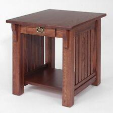 #161 Solid Oak Mission End Table