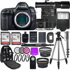 Canon EOS 5D Mark IV Digital SLR Camera with (3) Lenses + Accessory Bundle