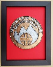 Large Scale Framed MOUNTAIN RESCUE ENGLAND & WALES Badge Plaque