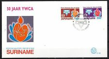 Suriname - 1992 50 years girls society YWCA -  Mi. 1413-14 clean FDC