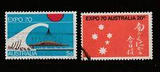 1970 AUSTRALIA Osaka Expo  SG 456/7 VFU
