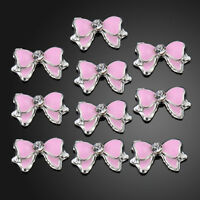 10PCS Hot 3D Alloy Rhinestone Bow Tie Butterfly Nail Art Decoration Stickers DIY