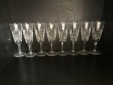 "New ListingWaterford Crystal Lismore Short Stem Champagne Flutes 7.25"" Glasses Set of 8"