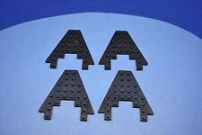LEGO 4 x Keil Flügel Bauplatte schwarz 8x8 Boot Bug 6104 | black plate