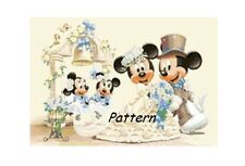 Mickey & Minnie Mouse Wedding. Counted Cross Stitch Kit.