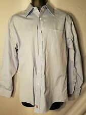Nordstrom mens button down  dress shirt 14 1/2 33 EUC blue
