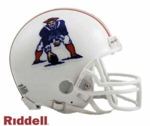 New England Patriots 1982-1989 82-89 Throwback VSR4 Riddell Mini Helmet New