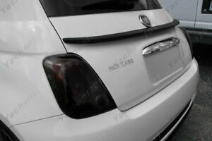 Carbon Fiber Rear Wing Fit For 2007-2013 FIAT 500 EURO LIP Style Rear Spoiler