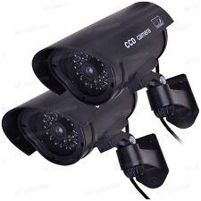 Manichino Telecamere di Sicurezza x 2-telecamera CCTV finta + GRATIS Adesivi Cctv