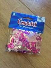 Confetti - Heart Shimmer - Table Confetti - Pink and Silver Heart Shapes - 14g