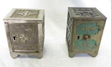 (2) Cast Iron Still Coin Banks. J&E Stevens Key Lock Safe No. 50. 4 1... Lot 343