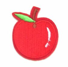 Red Apple Iron On Patch- Garden Fruit Food Embroidered Badge Applique Crafts