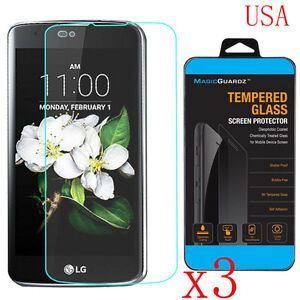 3 x 9H ULTRA CLEAR TEMPER GLASS SCREEN PROTECTOR For LG Tribute 5 K7 USA